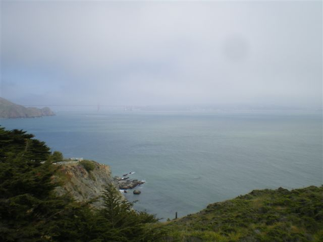 A View From Reyes Point Across the Bay to Golden Gate Bridge