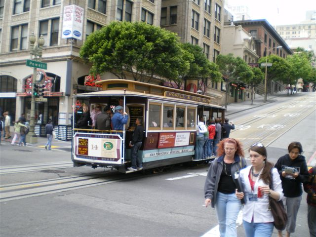 One of those Cable Car's San Fran is famous for