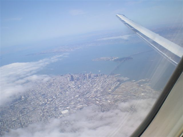 San Fran From Above - on my way home